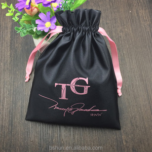 Promotion Satin Bag Drawstring with LOGO printed