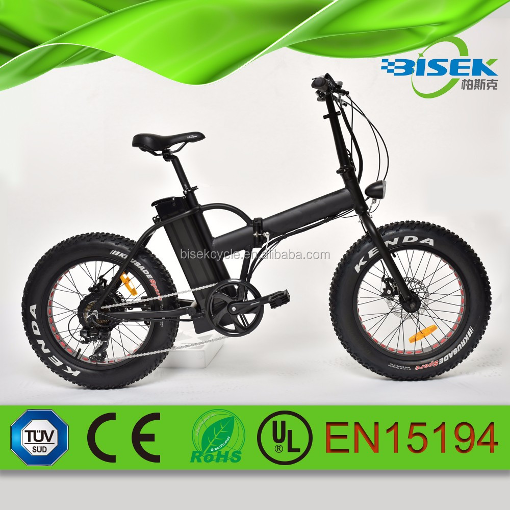 250w folded electric bicycle for kids fat tire 20""