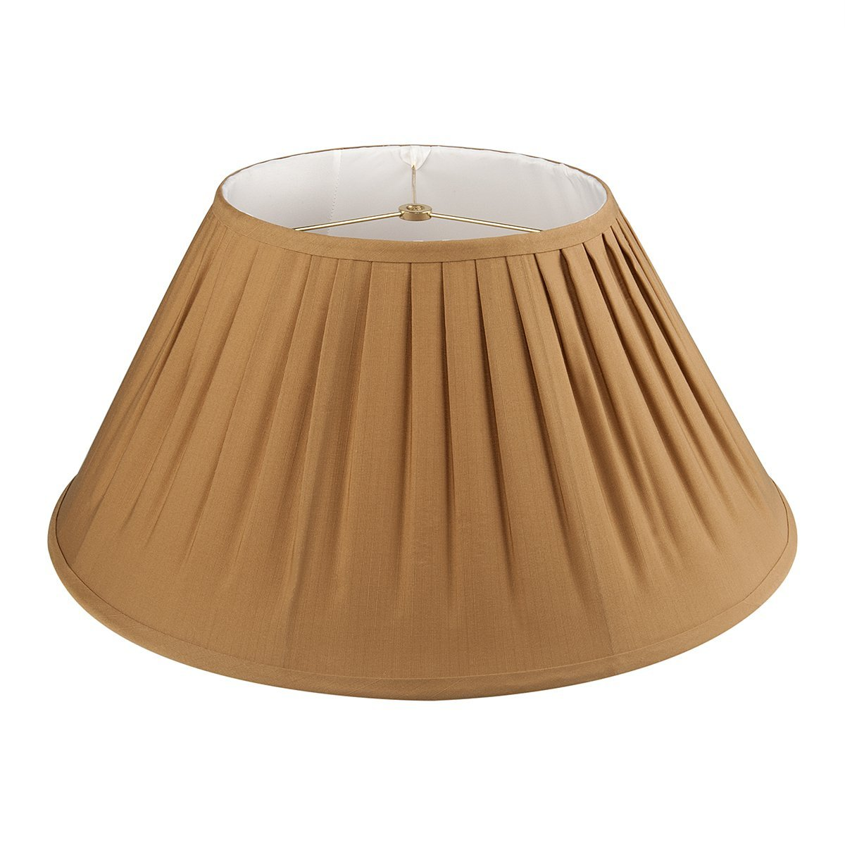 Mushroom pleats Farbic Covered spider fitting Lampshade, 10x20x9 inch Large Shade