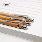 Customized eco friendly wood pen bamboo ballpoint pen with printed logo