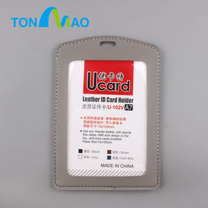 business good quality exhibition pu leather business badge card holders