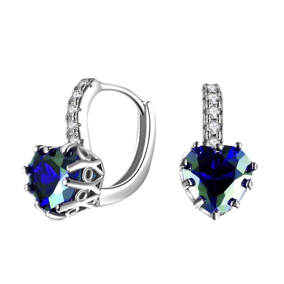 Clearance Deal! Hot Sale! Earring, Fitfulvan 2018 Simple Fashion Diamond Ear Stud Earrings Mother's Day Gifts Earrings Jewelry (Sliver)