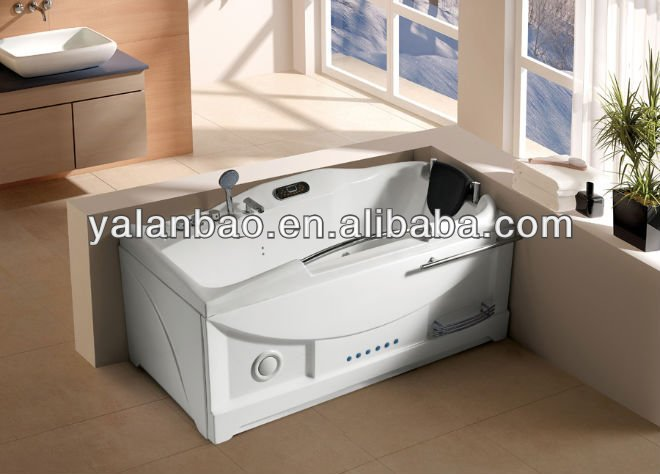 Hot Tub Bathtub Price for two people Luxury Acrylic freestanding massage bathtub for two people 2014