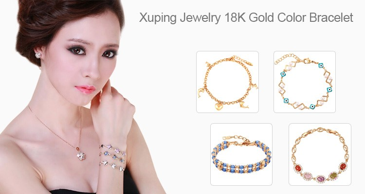 73730 Xuping lucky charm bracelet jewelry vogue 18k gold bracelet with personalized magnetic clasp