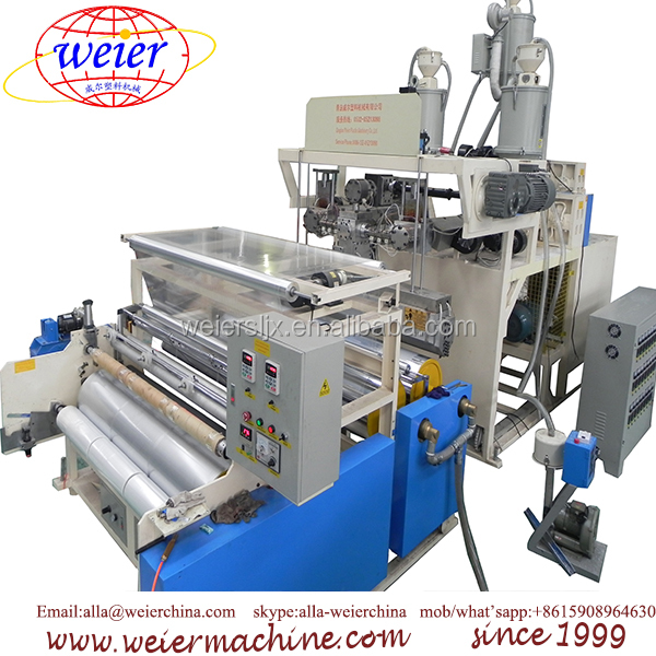 LLDPE 3-5 layers stretch film extrusion line PE cast stretch film production line film making machine