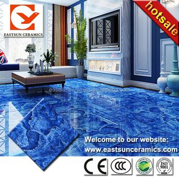 12x12 Ocean Blue Ceramic Floor Tile Design In Pakistan For House