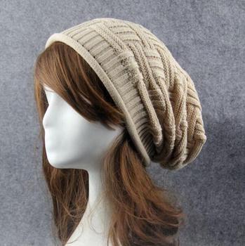 Stocking Skull Loose Ski Hat Unisex Winter Baggy Knit Long Beanie ... 0a684f408b8