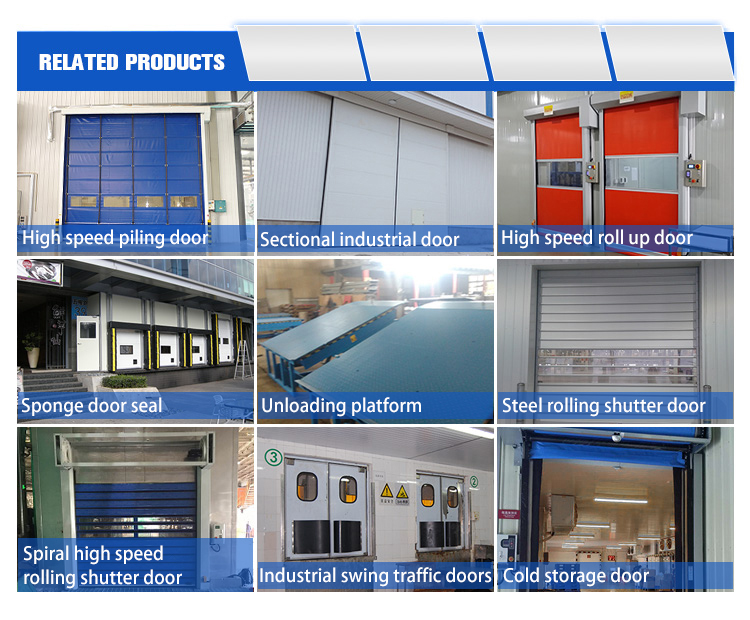 Freezing storage Cold room automatic Fast Rolling up High Speed Shutter door