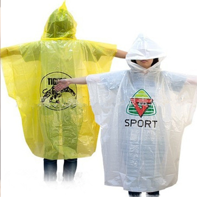 Raincoats Type and Adult PVC Material Reusable Rain Ponchos