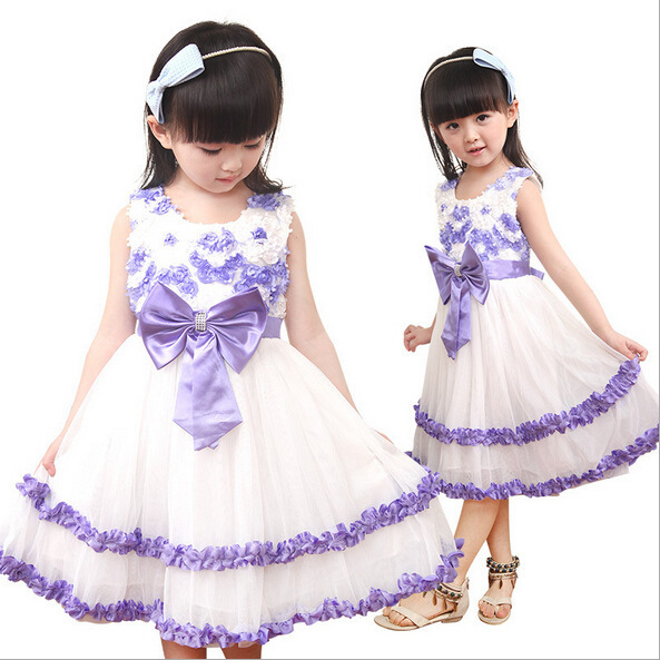da4a8802934 Get Quotations · summer beautiful dress bow dress beautiful girl s ca dress  fashion style girl s dress cake dress special