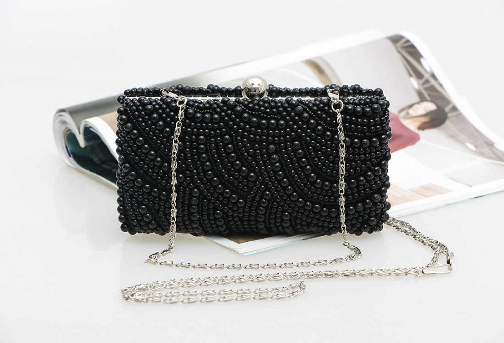 d3cac66375 Buy Most popular pearls evening bags white black pearls clutch bag 2015 new  beaded party purse summer style chains beach bag in Cheap Price on  m.alibaba.com