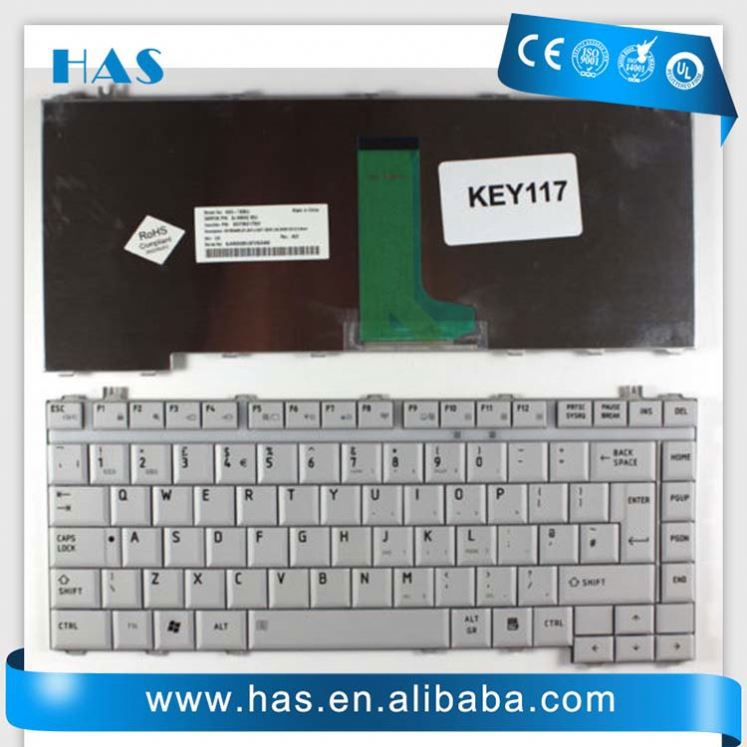 wholesale Laptop keyboard for Toshiba Satellite A200 M200 M300 L200 L300 A300 Russian Silver