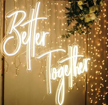 better together custom Acrylic Neon Signs Led Signature small Neon Light sign