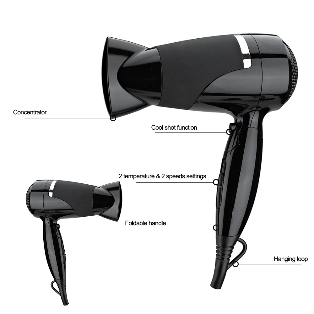 Dual Voltage Blow Dryer Dc Motor Lightweight Travel Hair Dryers
