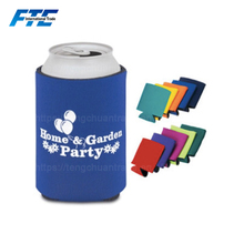 3mm Portable Neoprene Foldable Beer Can Cooler Insulated Neoprene Beer Bottle Cooler