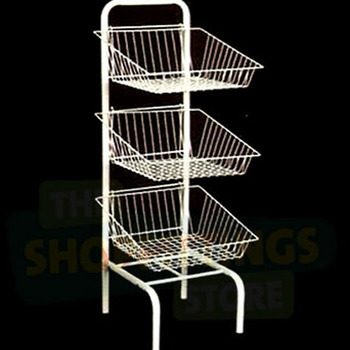 3 Tier Metal Wire Basket Stand