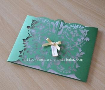 Tarjeta De Papel Artesanía Puerta Tarjeta Invitaciones Para La Fiesta Verde Invitación De La Boda Buy Verde Invitación De La Boda Manzana Verde