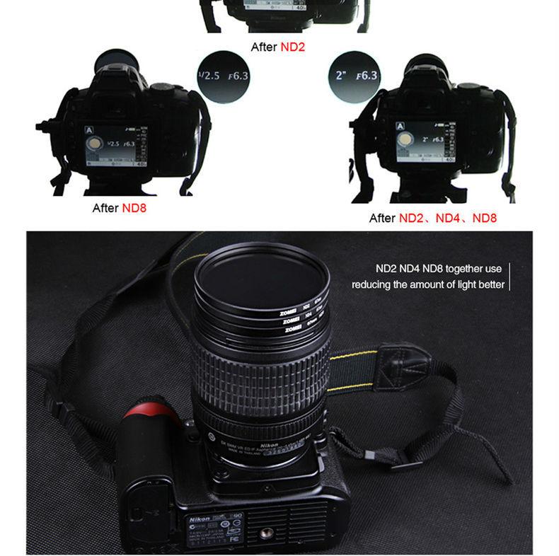 ND2 ND4 ND8 카메라 필터 OEM 도매