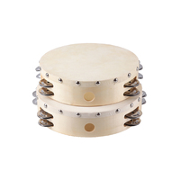 Wooden drum percussion instruments,double row tambourine