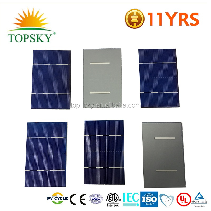 2BB/3BB/4BB 3x6 inch 0.5v 156x78mm poly solar cell cutting with any size mini solar cells for DIY solar panel