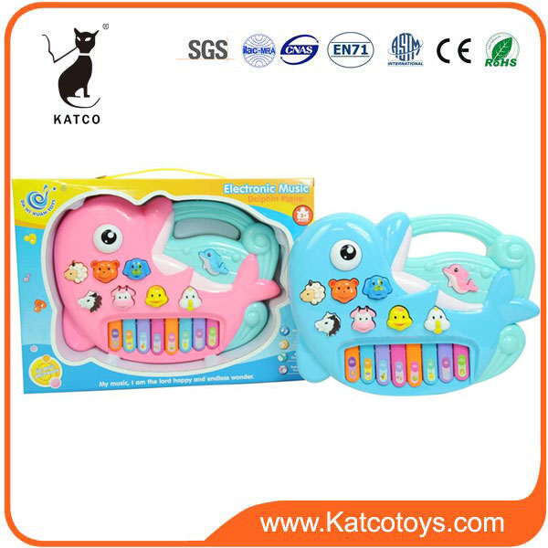 Wholesale Plastic Animal Cartoon Keyboard Electric Piano Toy For Kids Educational