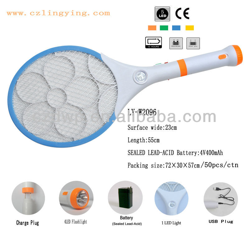 popular Rechargeable Electronic mosquito Racket spider catcher