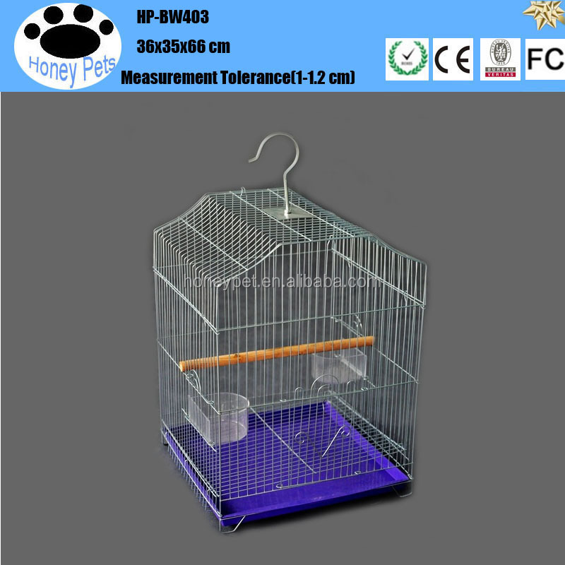 Top sale victorian style home made acrylic parrot bird cage .