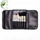 Maquillaje Smudge cosmetic brushes black Nylon hair makeup brush custom brand private label fashion white 8pcs makeup brush set