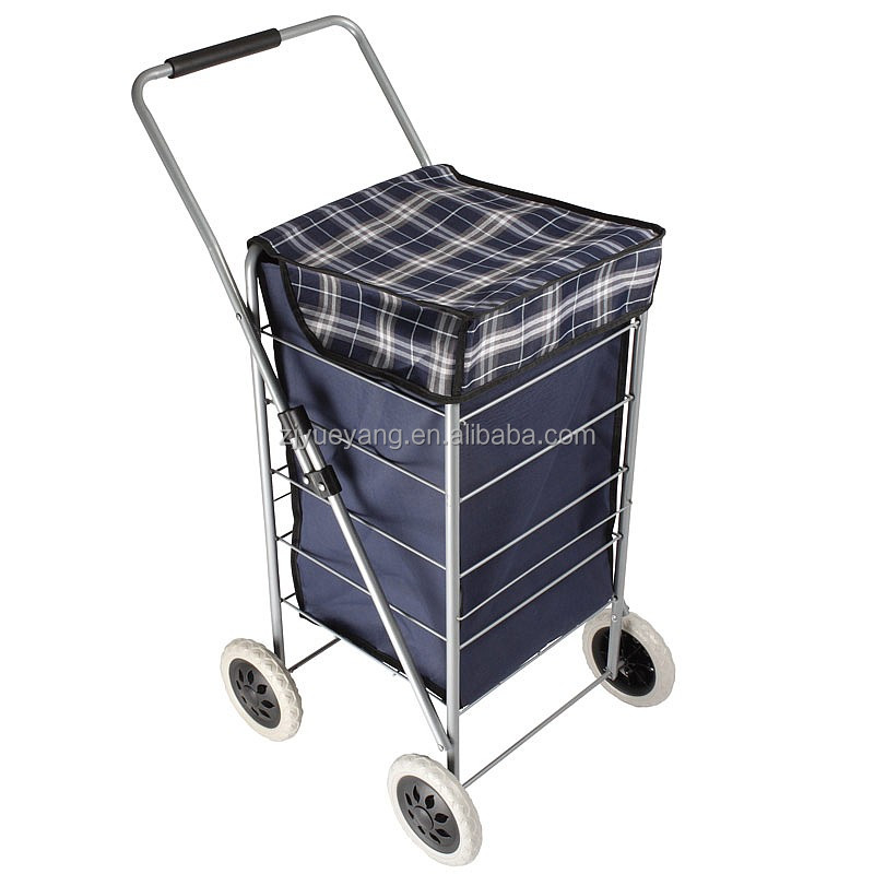 YY-35X01 four wheeled shopping trolley 4 wheel shopping trolley