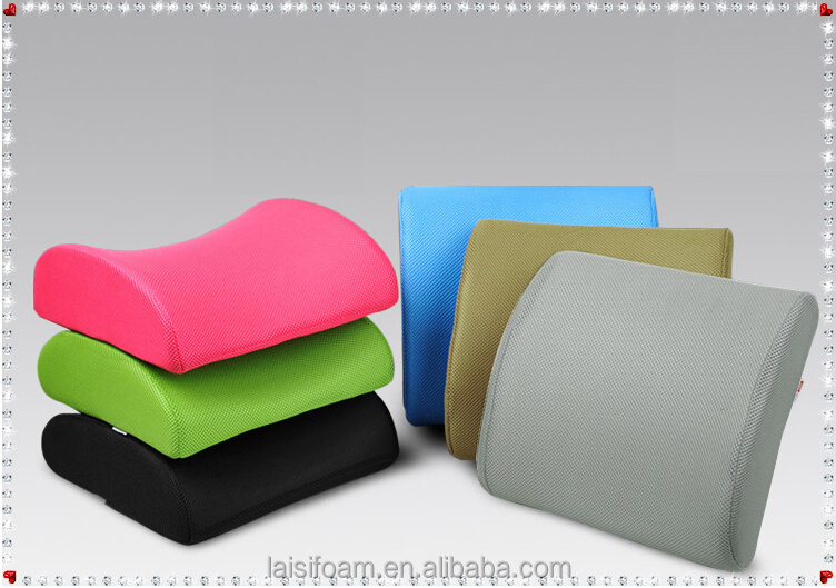 100% polyester memory foam pillow for adult car seat cushion LS-C-002-C car seat massage cushion