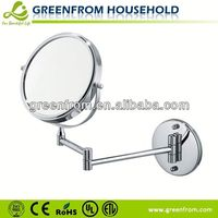 6 Inch Wall Extendable Natural Wood Framed Mirror