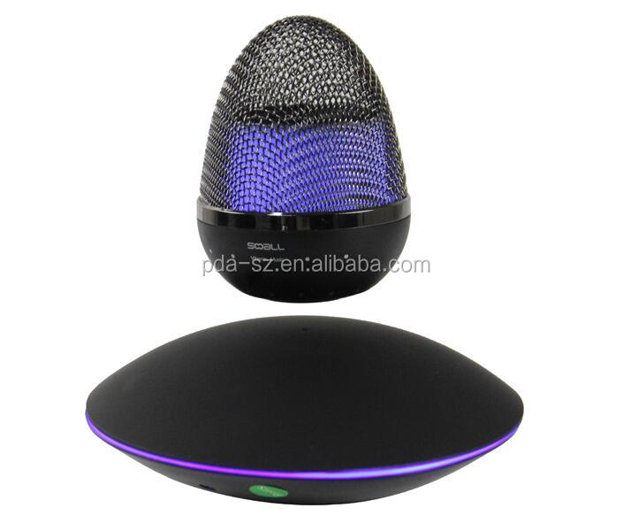 magnetic floating desk levitate bluetooth speaker with led light