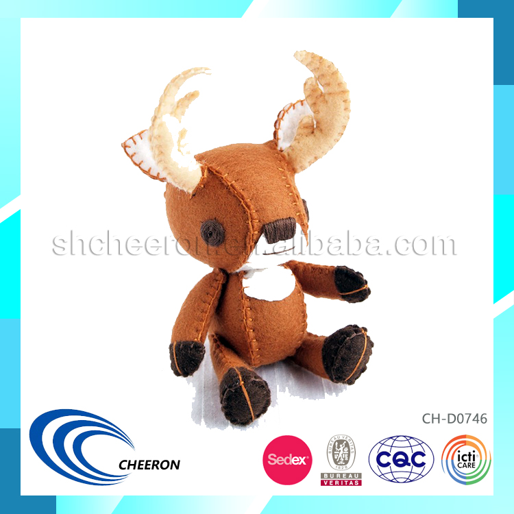 Handmade soft cute mini deer toy for presents