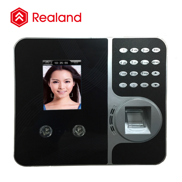 Realand F495 facial recognition device biometric time attendance fingerprint time recorder