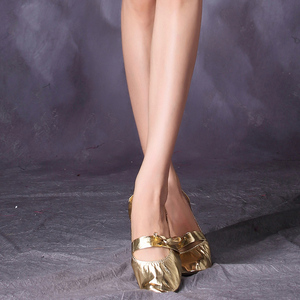 New Style Golden Soft Soled Performance Belly Dance Shoes For Women ZH9024
