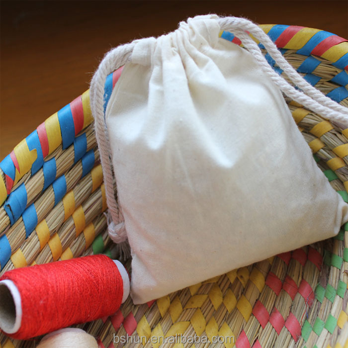 Organic Cotton Drawstring Bag for Seeds