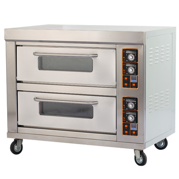 2017 Best Quality Safety Commercial Pizza Oven Double Layer Four Tray Electric Baking