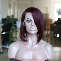 Indian Remy hair purple color front lace wig BOB Style