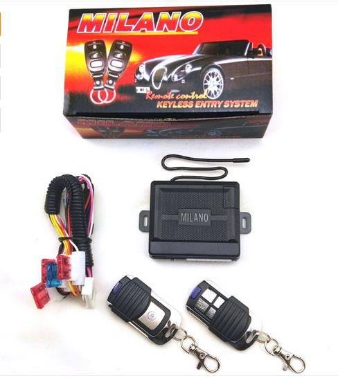 MILANO one way car keyless entry system one way PKE keyless entry system car alarm with keyless entry function