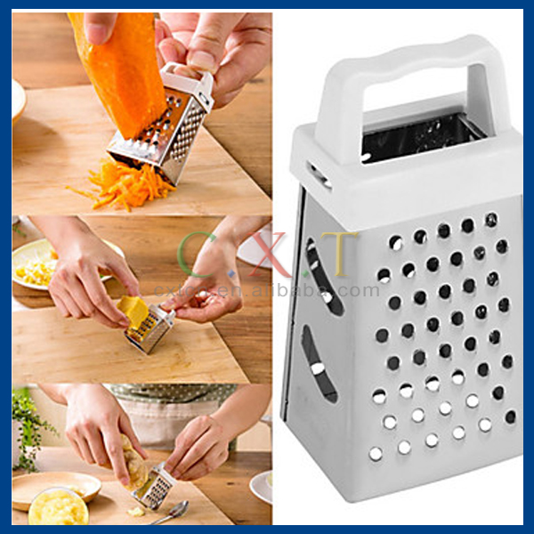 Useful Mini 4 Sides Design Stainless Handheld Grater Slicer Kitchen Tool