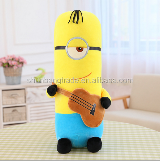 China custom cheap soft minion big stuff plush toy for wholesale