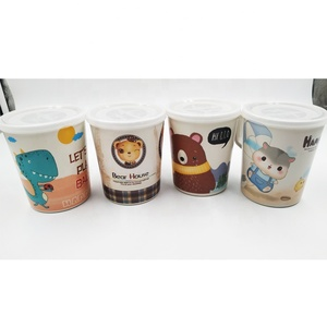 High quality durable bamboo fiber tumbler cup, printed bamboo drinkware for kids