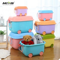 ECO baby Children's Toy Organizer Animal Plastic Kids Toy Storage Boxes Bins with Lid for Kid Toys