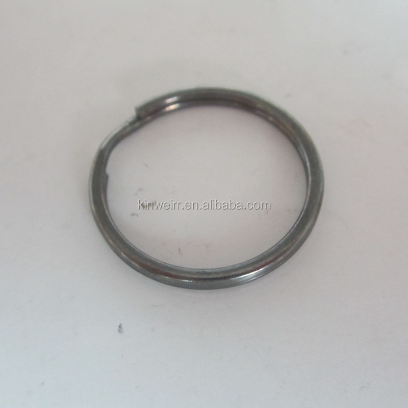 High quality Gun Metal Split Key Rings For Soft Rubber PVC