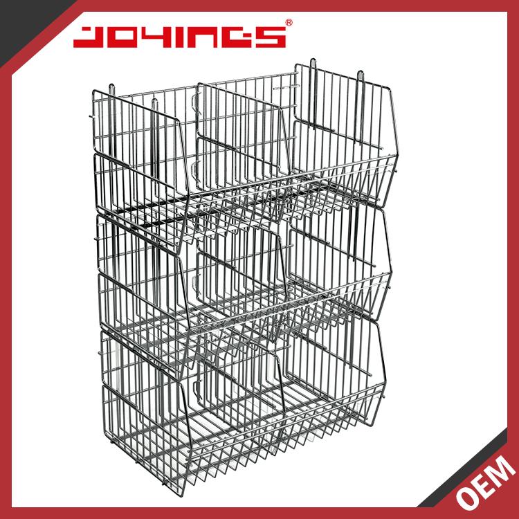 Stacking Wire Storage Baskets - Wire Data •