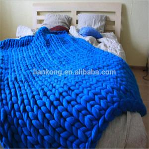 Merino wool Grande Large blankets/Giant knit/Cozy throw Chunky blanket