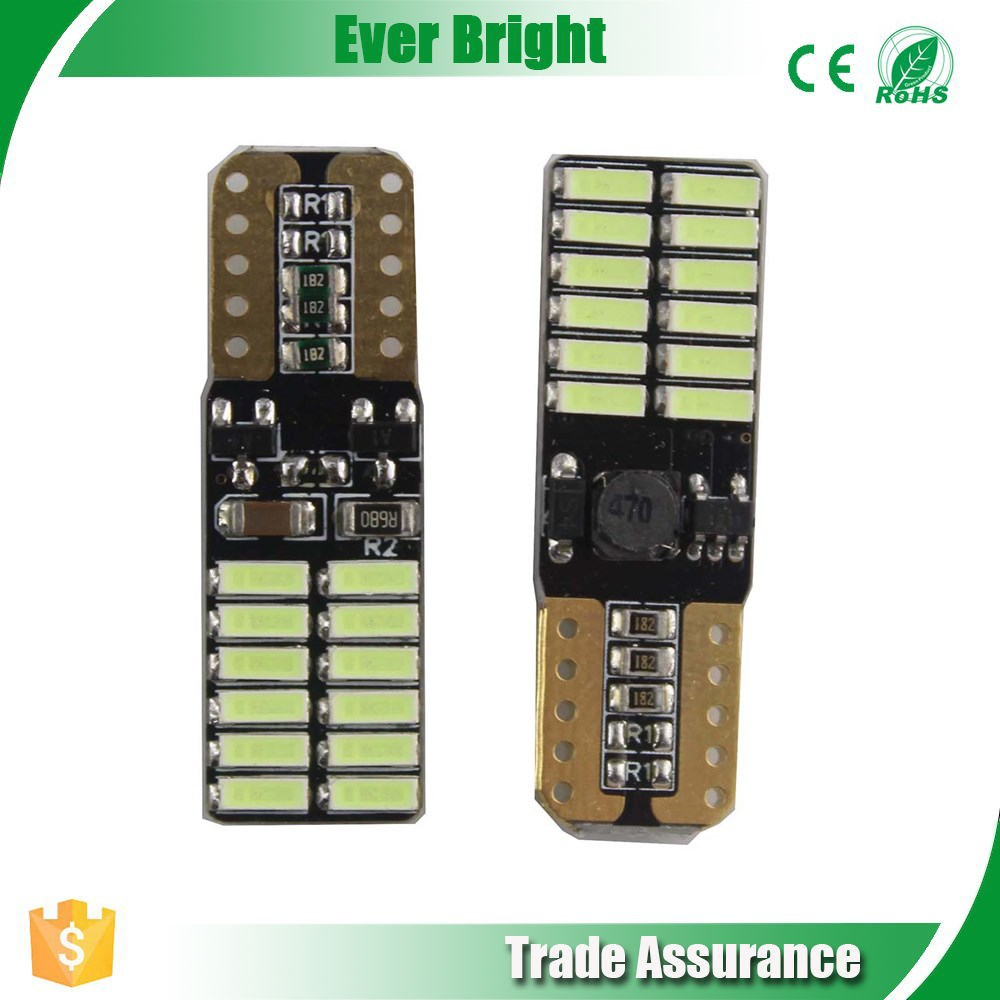 New T10 W5W 194 / 921 3014 24SMD CAN bus No Error LED Light For Car Map Side Marker lights Bulb Dashboard ,led canbus