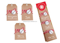 Gift Tag with bell 250gsm white kraft paper