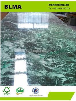 Green Laminate Granite Grain Veneer Color Hpl Countertop