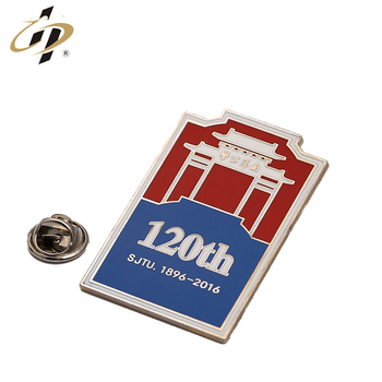 Cheap price custom brand logo anniversary metal lapel pins with butterfly clutch
